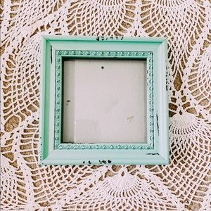 Blue distressed picture frame